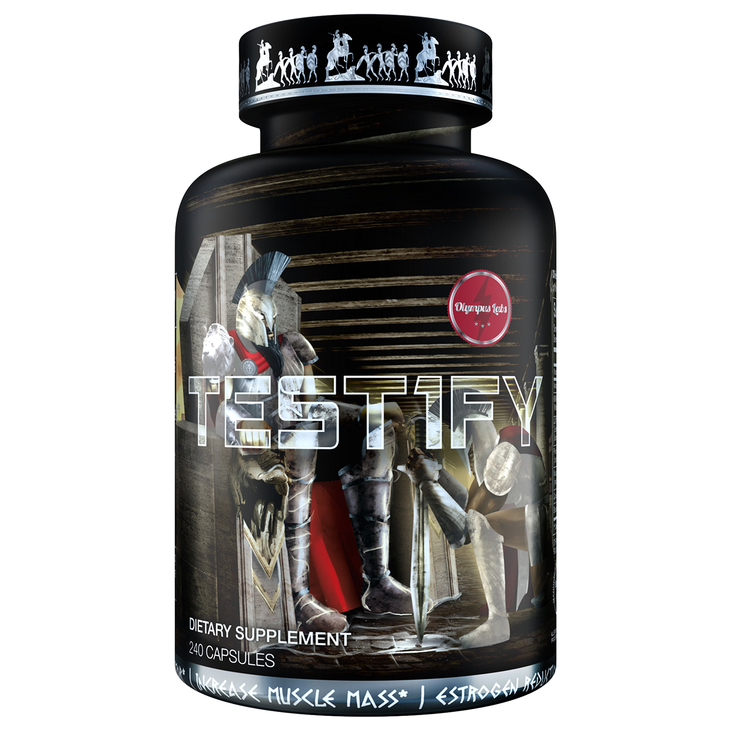 TEST1FY Testosterone Boosting and Muscle Building Supplement - Includes Key Patented Ingredients Including LJ100, Albion Boroganic Glycine, and KSM-66 Ashwagandha - 240 capsules - 30 Servings