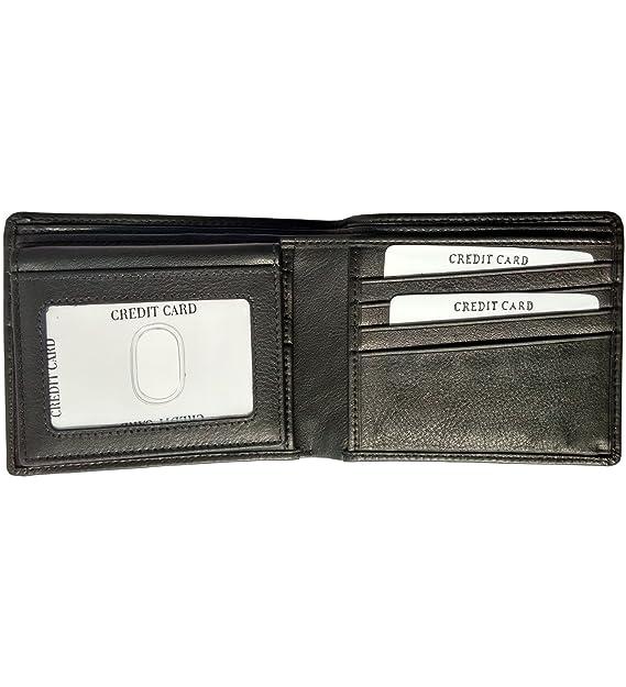AurDo - Billetera de piel para hombre con cierre de cremallera extraíble - negro - talla única: Amazon.es: Ropa y accesorios