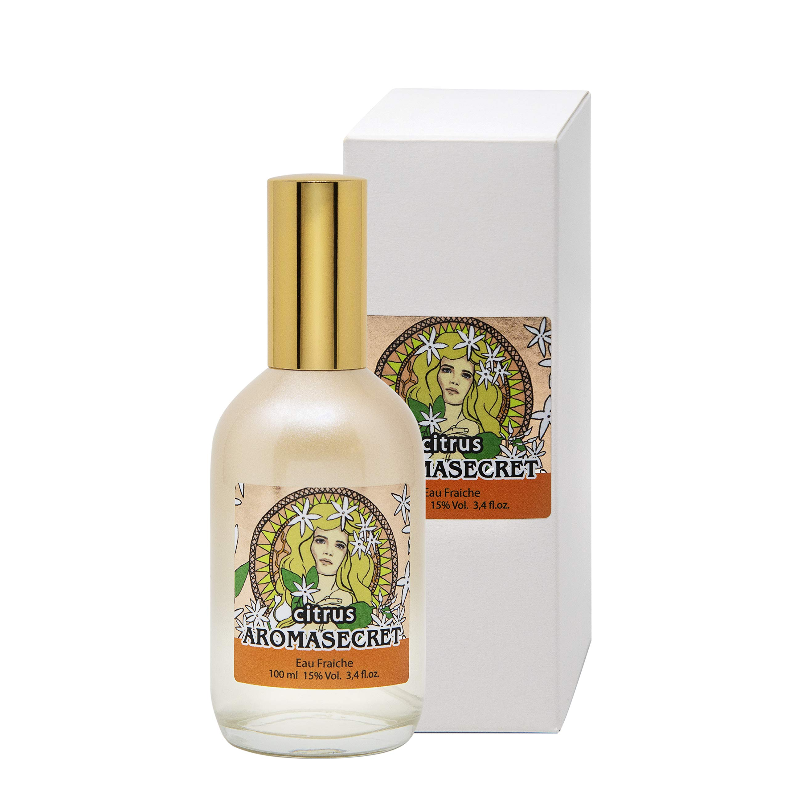 AROMASECRET Citrus Eau Fraiche/Fresh Fragrant Water Spray for Women, 100 ml bottle (3.4 fl.oz.) - NEW Perfume Conception by SERGIO NERO