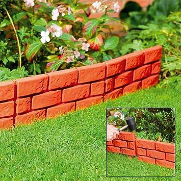 Separador Parkland® Instant efecto ladrillo para jardín : Amazon ...