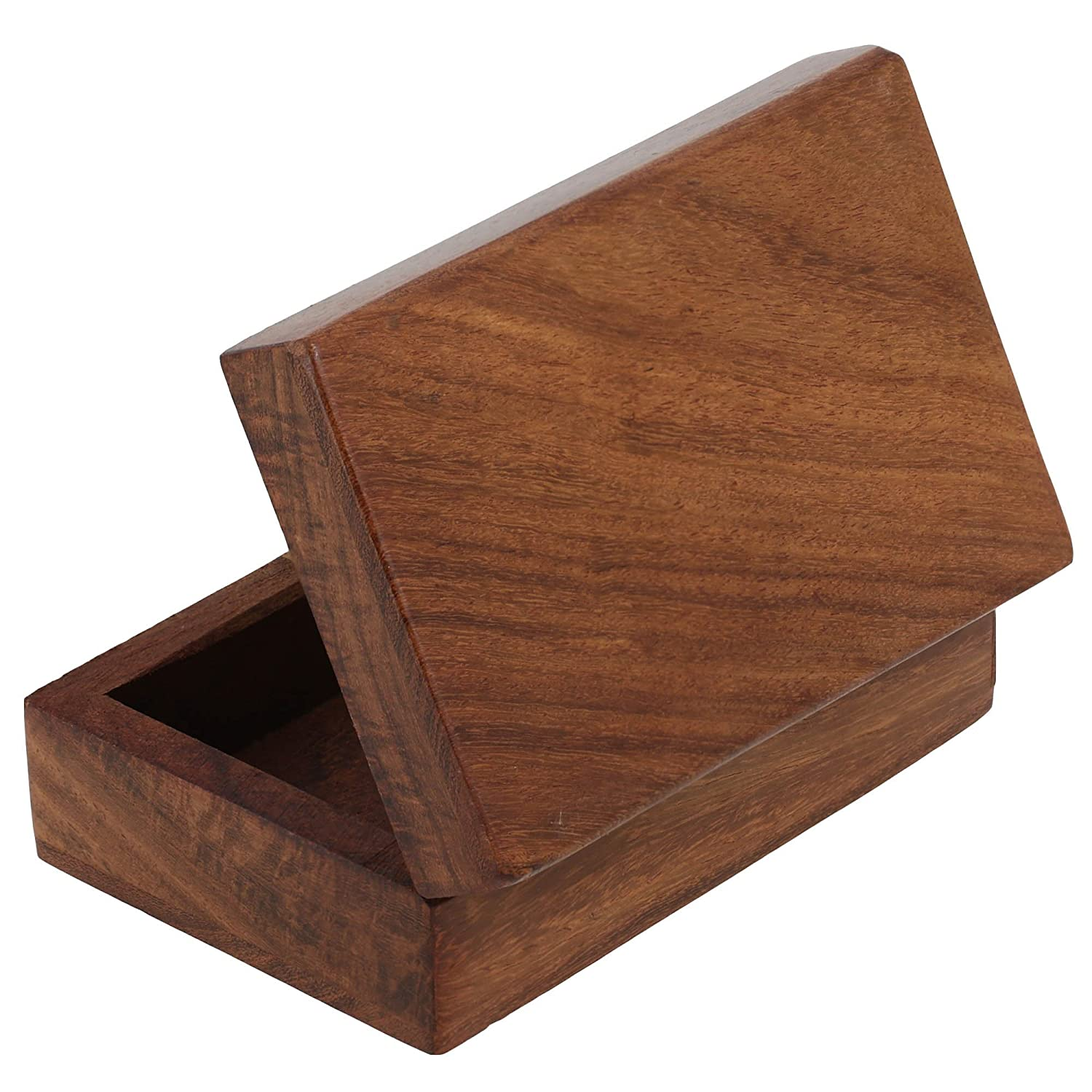 da7b943c5 Amazon.com: Artncraft Wooden Trinket Jewelry Box, Sleek and Simple Gift for  Women, 4 X 2.5 X 1.5 Inches: ShalinCraft: Home & Kitchen