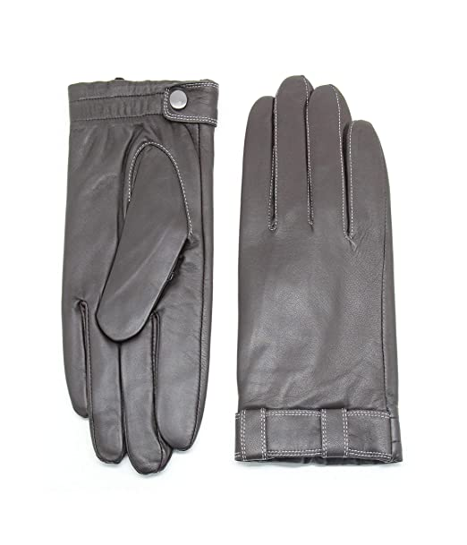 Prime Top Quality Real Leather Winter Dress Gloves With Lining Black Colour 9040