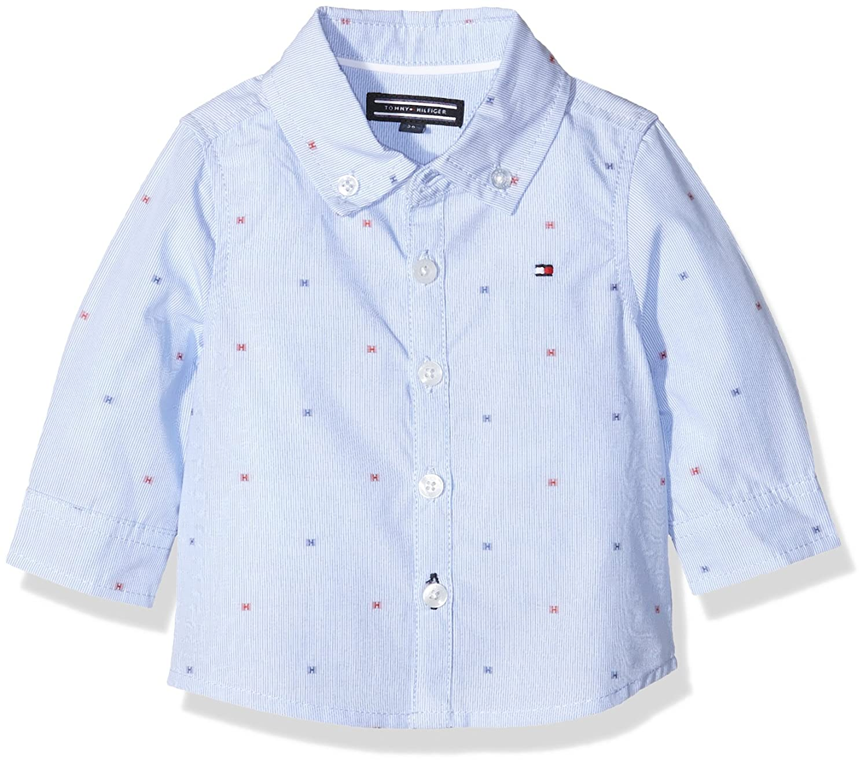Tommy Hilfiger Baby-Jungen Hemd Dobby Boy Shirt L/s