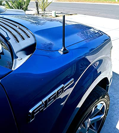 2019-2020 Premium Reception The Original 6 3//4 Inch is Compatible with Nissan Titan AntennaMastsRus Internal Copper Coil - Car Wash Proof Short Rubber Antenna German Engineered