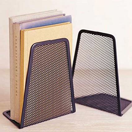 Humorous High Quality Black Metal Mesh Desk Organizer Desktop Office Home Bookends Book Holder 1 Pair Desk Accessories & Organizer Office & School Supplies