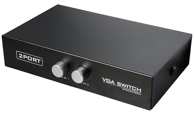 7 opinioni per VGA Data T-Switch per condividere 2 monitor da 1 PC o viceversa. 3x Sub-D 15pol