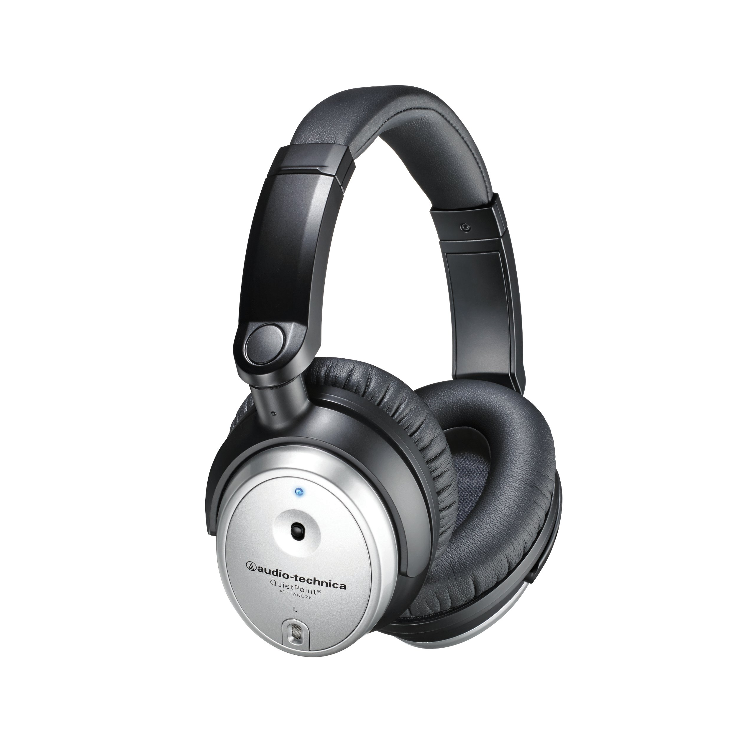 Audio Technica ATH-ANC7B SVIS Noise-Cancelling Headphones with In-Line Mic by Audio-Technica