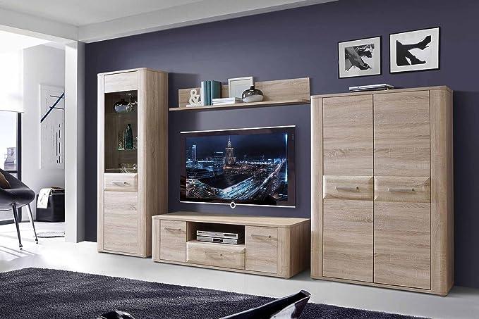 Wohnzimmerschrank Wohnwand Schrankwand Anbauwand Fernsehwand