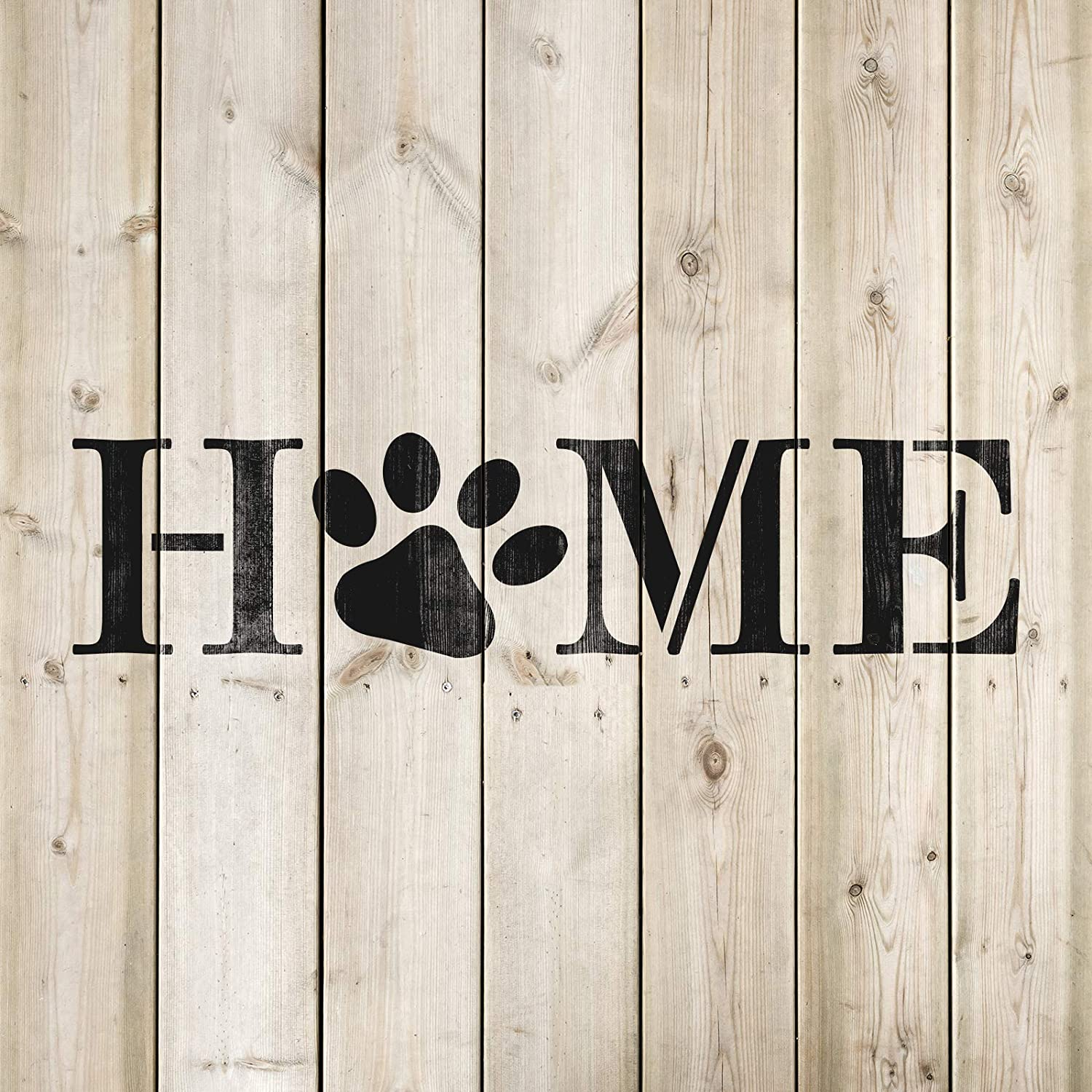 Reusable Stencils for Painting in Small /& Large Sizes Home Paw Print Stencil Template for Walls and Crafts