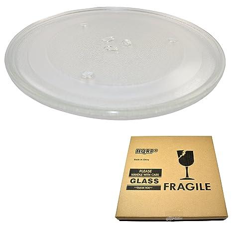 Amazon.com: HQRP - Bandeja giratoria de cristal para horno ...