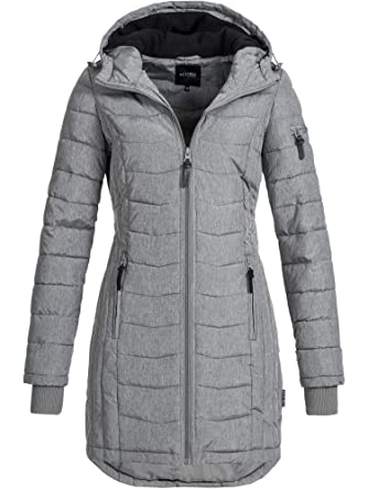 timeless design b337b a94d2 DESIRES Damen Bosse Winter Steppmantel mit Kapuze Parka Wintermantel  gefüttert 5 Farben XS-XL