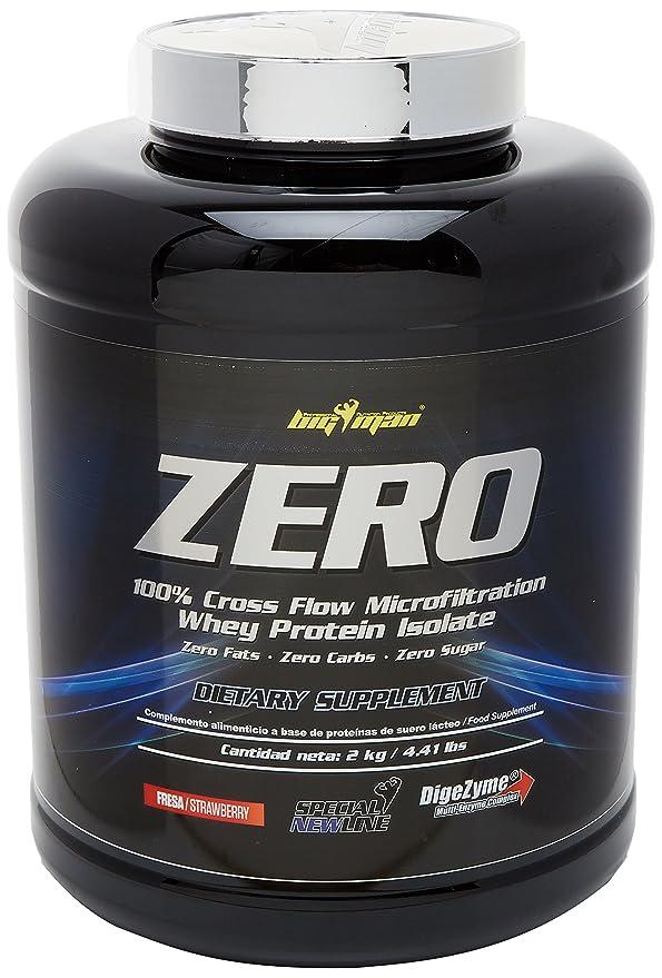 BigMan Zero Whey Protein Isolate 2 Kg Fresa: Amazon.es: Salud y cuidado personal