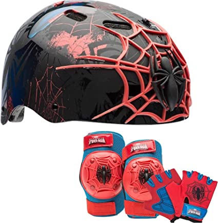 Bell Spiderman Kids Bike Accessory Pad//Glove Set Free Shipping