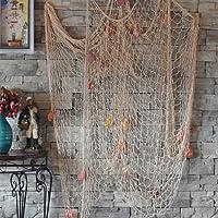 Miyare - Rete da pesca cucita a mano / decorazione per la tua casa o ristorante, stile mediterraneo, colore: blu