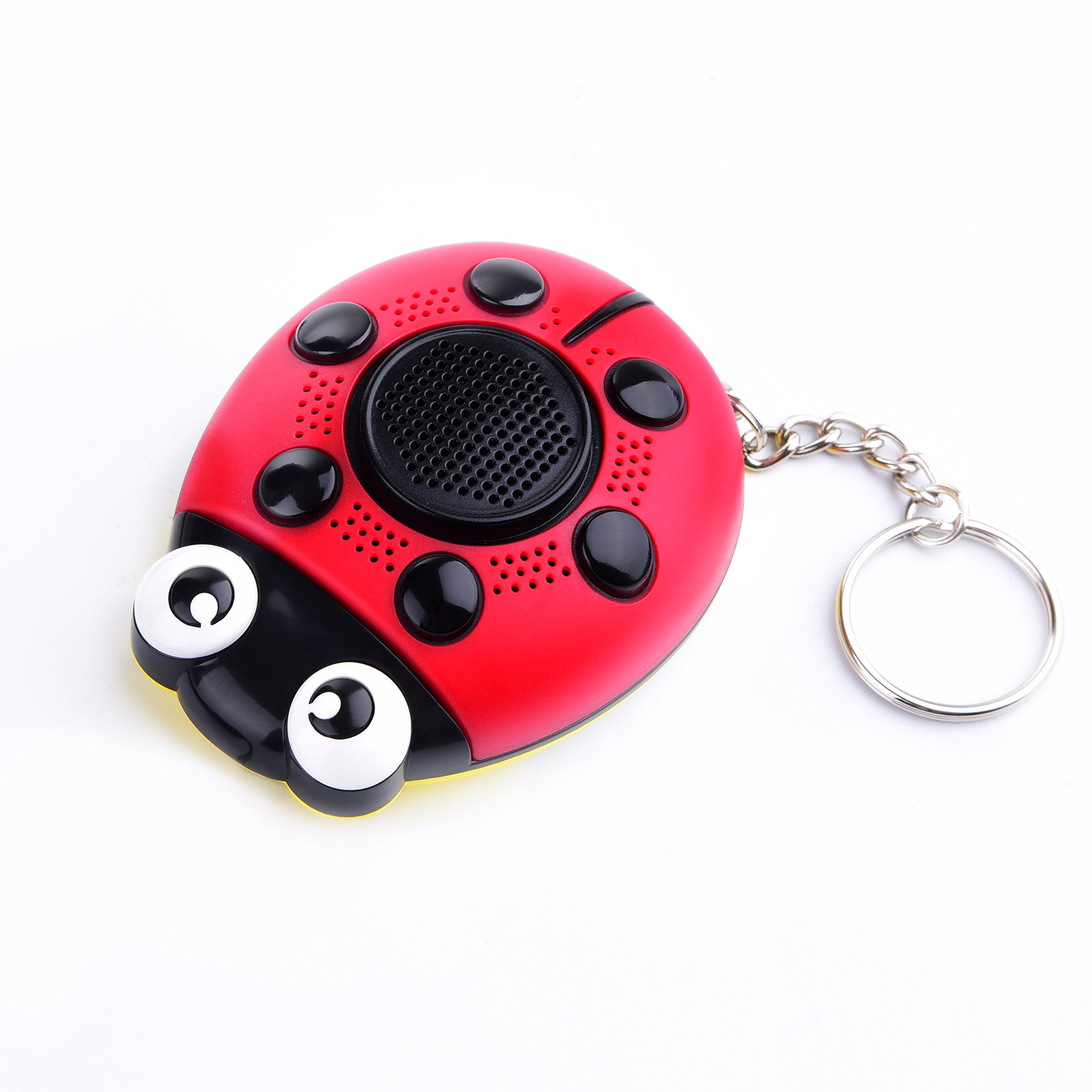 iDaye 130DB SOS with siren song voice Ladybug Emergency Personal alarm keychain,Protection Device with colorful flash work for kids/elderlies/owls and adults,Used as a speaker or electric torch. by iDaye (Image #2)
