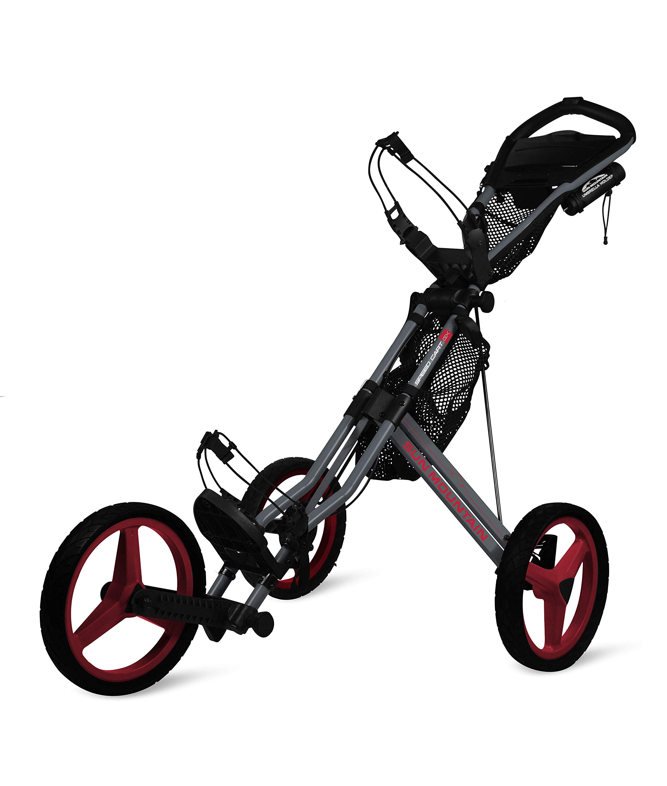 Sun Mountain Speed Cart Gx Push Cart Grey/Red