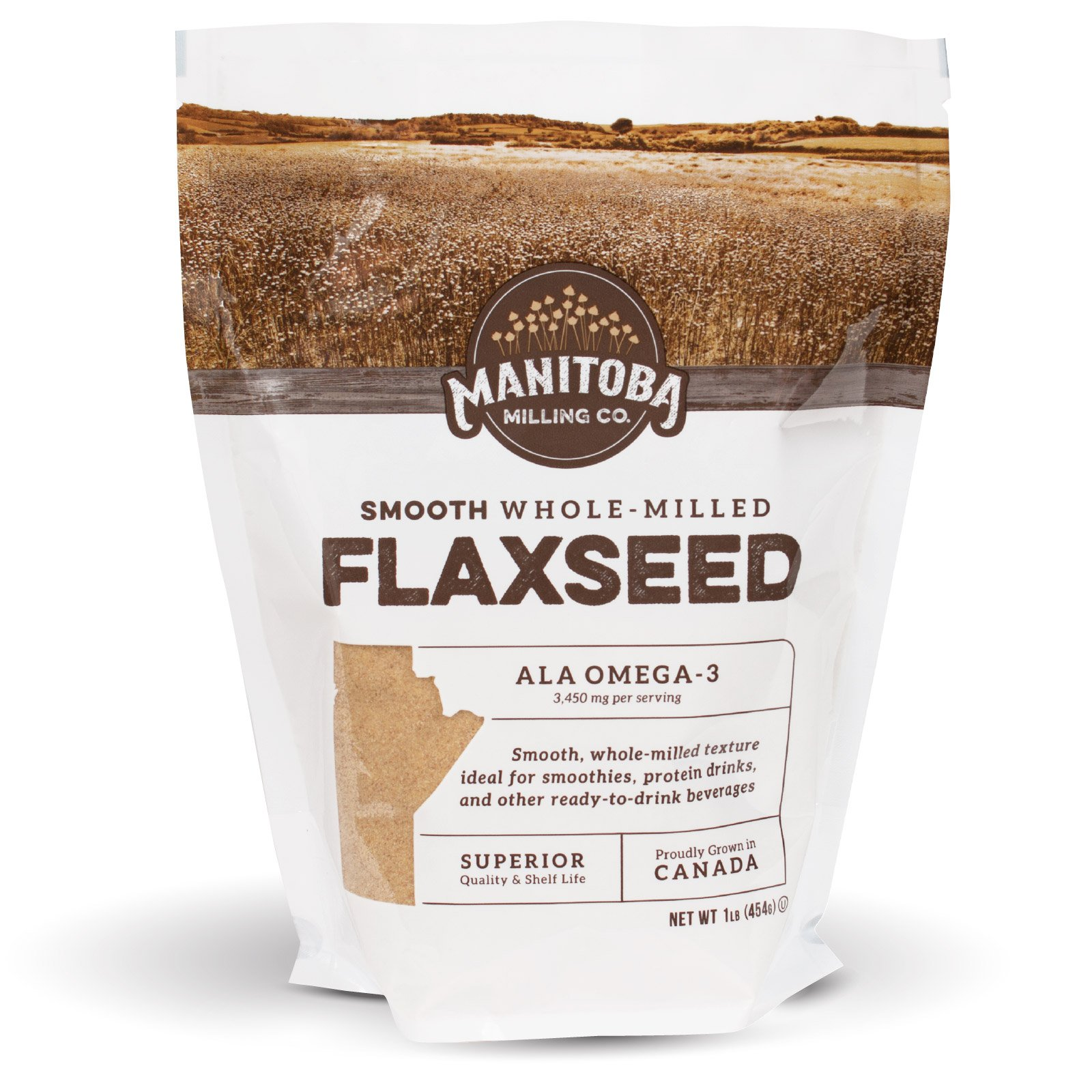 Canadian Golden Flaxseed, Milled Flaxseed (16 oz)