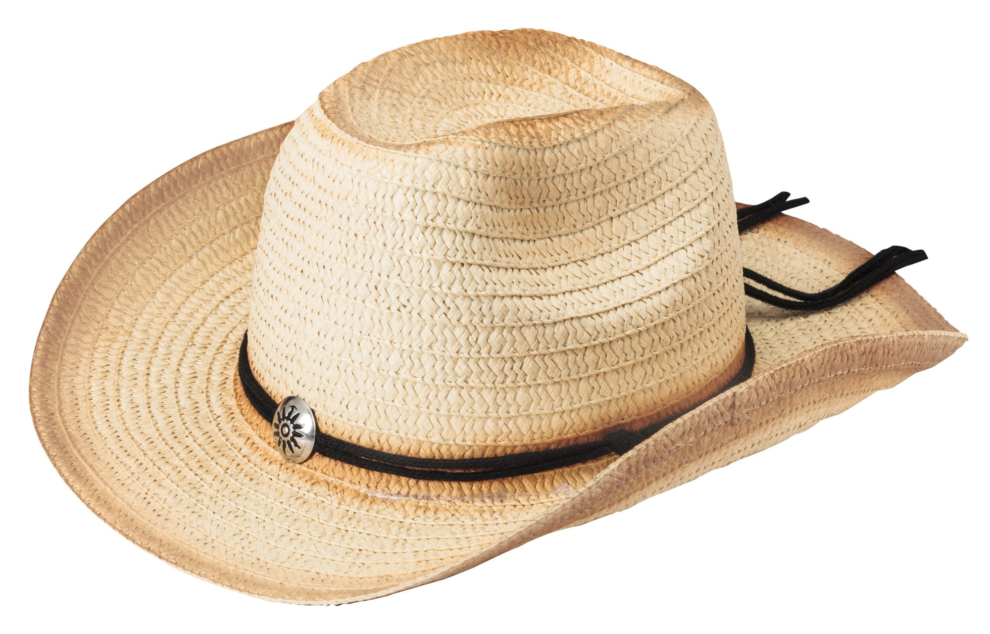 The Paragon Women's Cowboy Hat - Western Woven Straw with Adjustable Brim