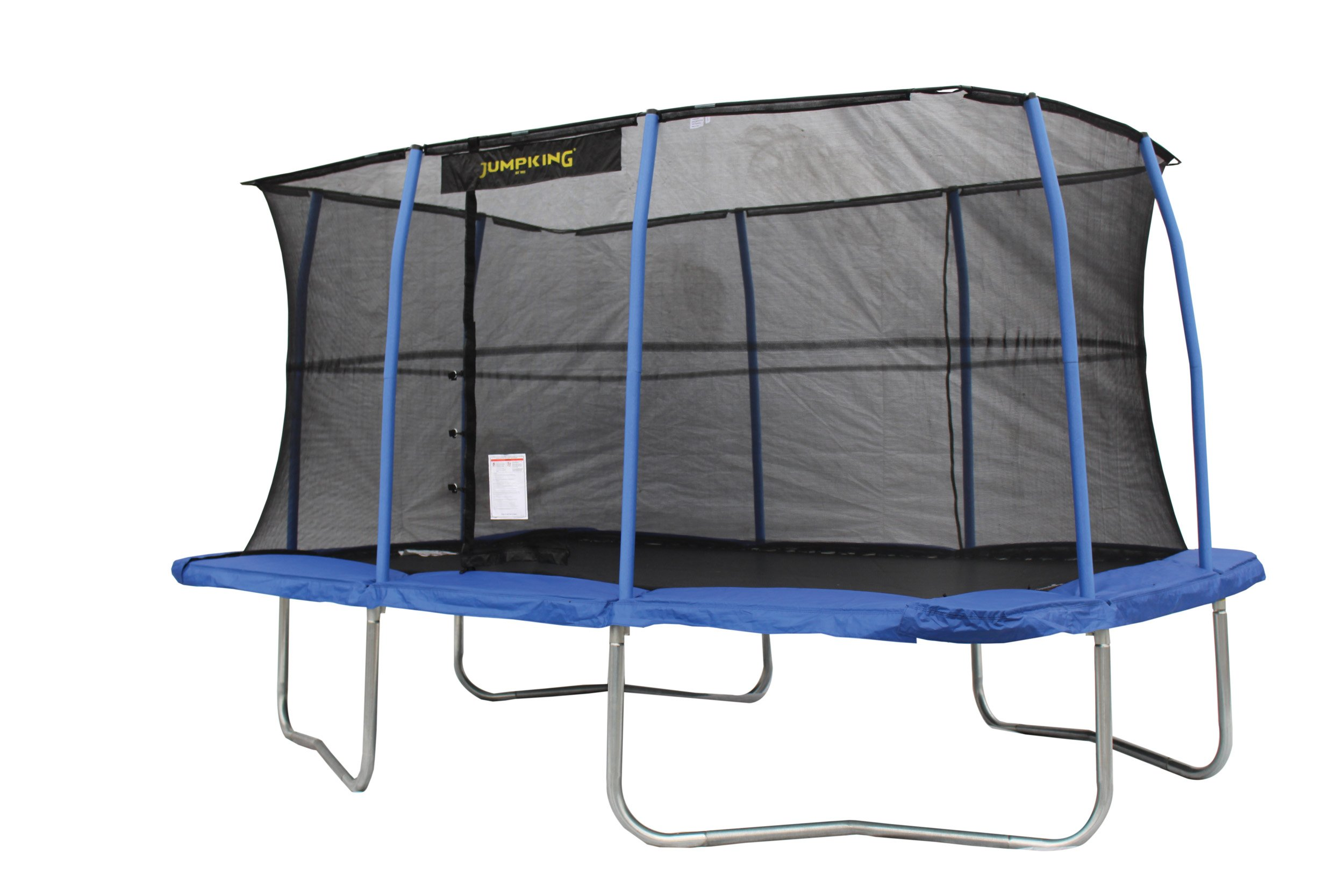 JumpKing 10 x 14 Foot Rectangular Trampoline with Safety Net Enclosure, Blue by JumpKing