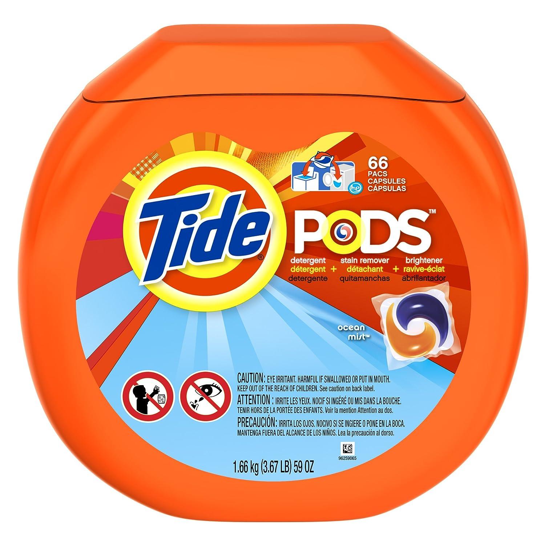 Tide Pods Detergent Ocean Mist 66 Loads 1 Tub, 66 CT (Pack of 4): Amazon.com: Grocery & Gourmet Food