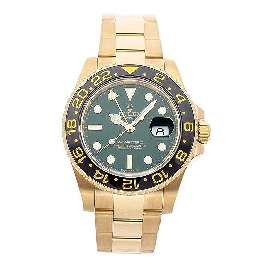 Rolex GMT Master II Reloj mecánico para Hombre (automático), Esfera Verde 116718LN (