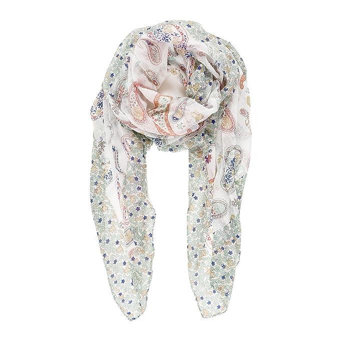 Pañuelo Fulard Bufanda Cuello 100% Viscosa de Mujer Estampado y ...