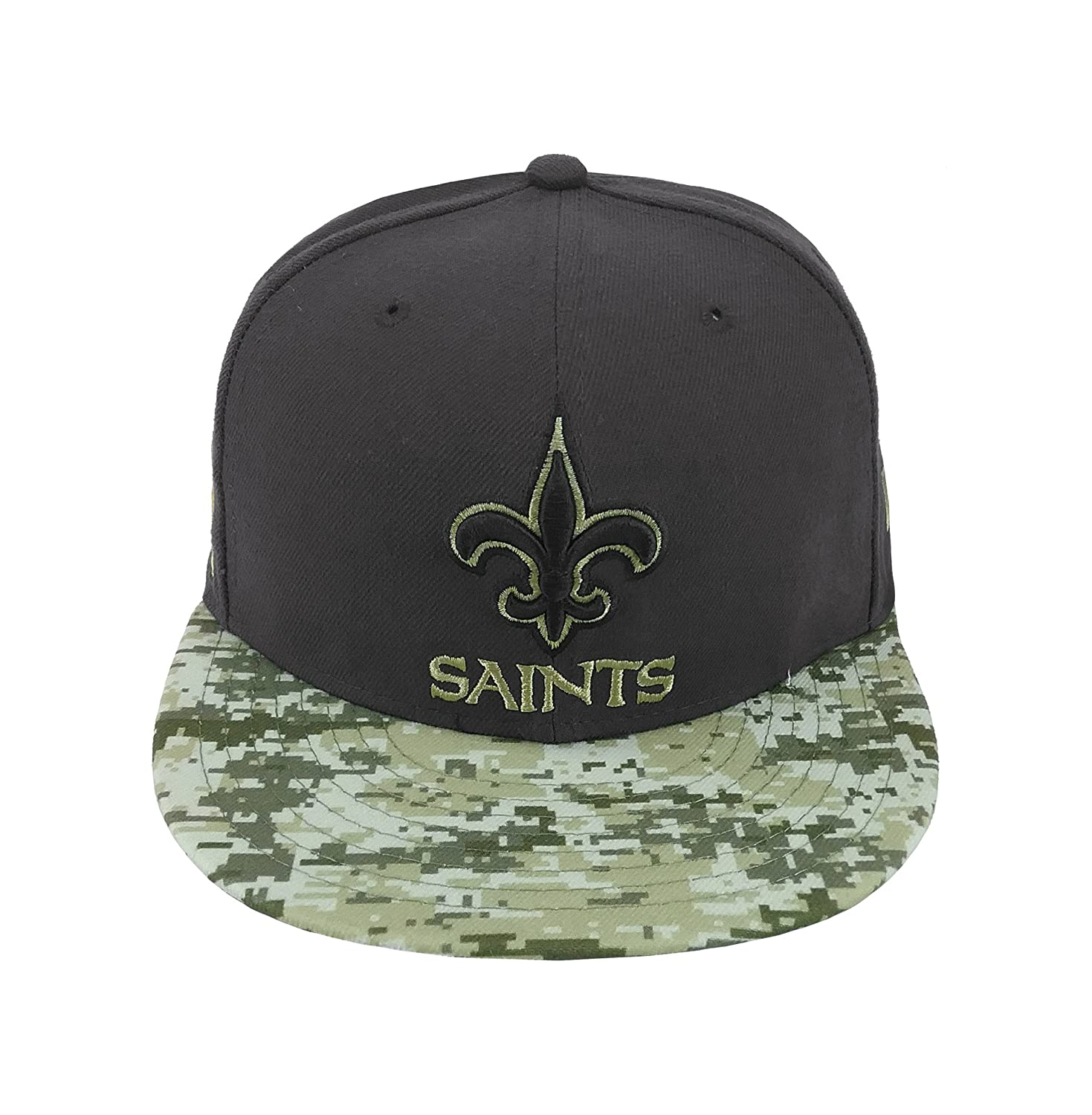 95a534a63 Amazon.com  New Era 59Fifty Hat Orleans Saints NFL 2016 Salute to Service  Gray Camo Cap  Clothing