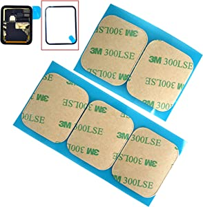 Eaglewireless 5pcs Lot Replacement Pre-Cut Front LCD Sticker for Apple Watch 4 Series 44mm Waterproof Adhesive Tape Glue (Apple Watch Series 4 44mm)