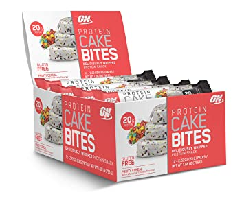 OPTIMUM NUTRITION Protein Cake Bites Whipped Bars On The Go Low Sugar