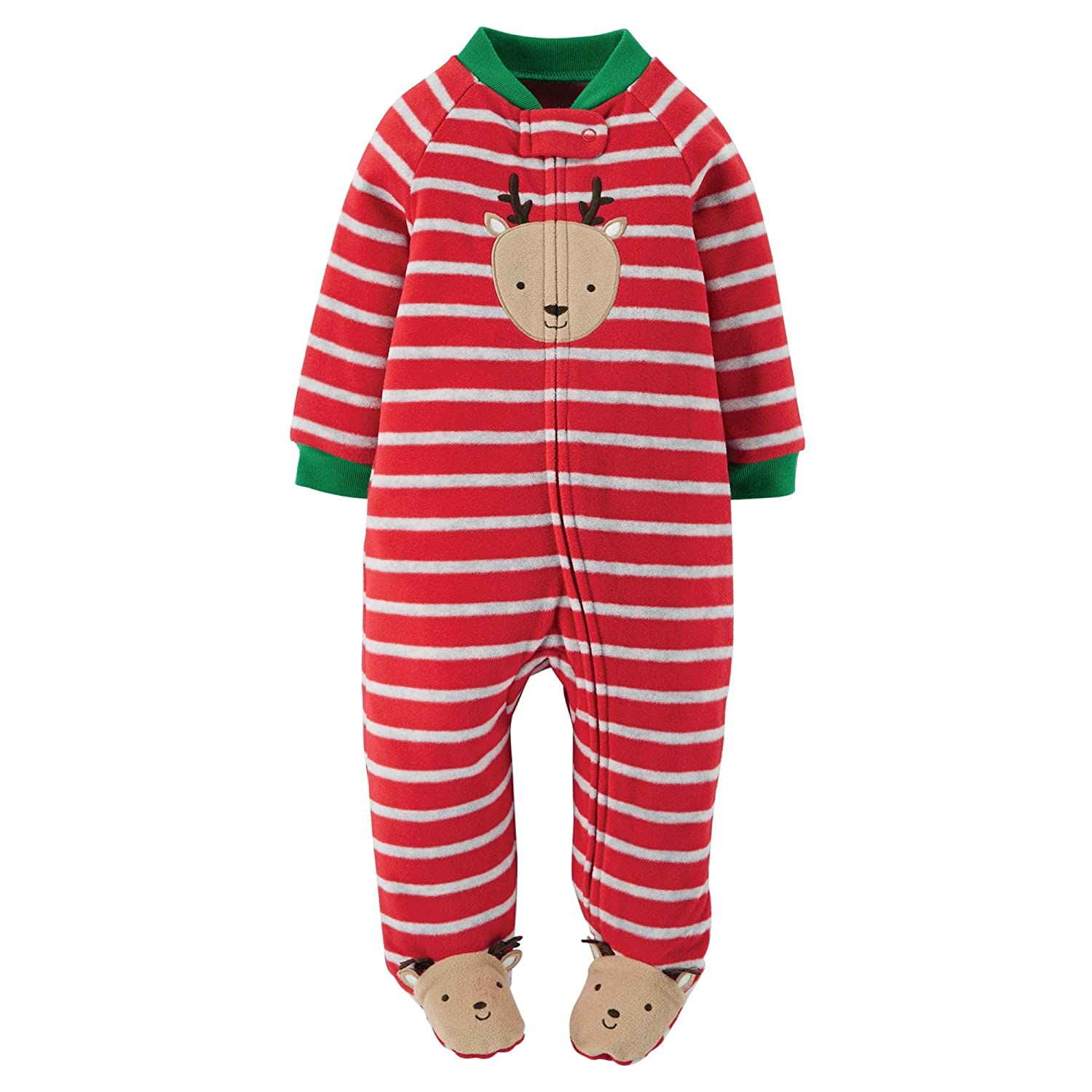 1e0ee63bc Amazon.com  Carter s Infant Boys Red Stripe Fleece Christmas ...