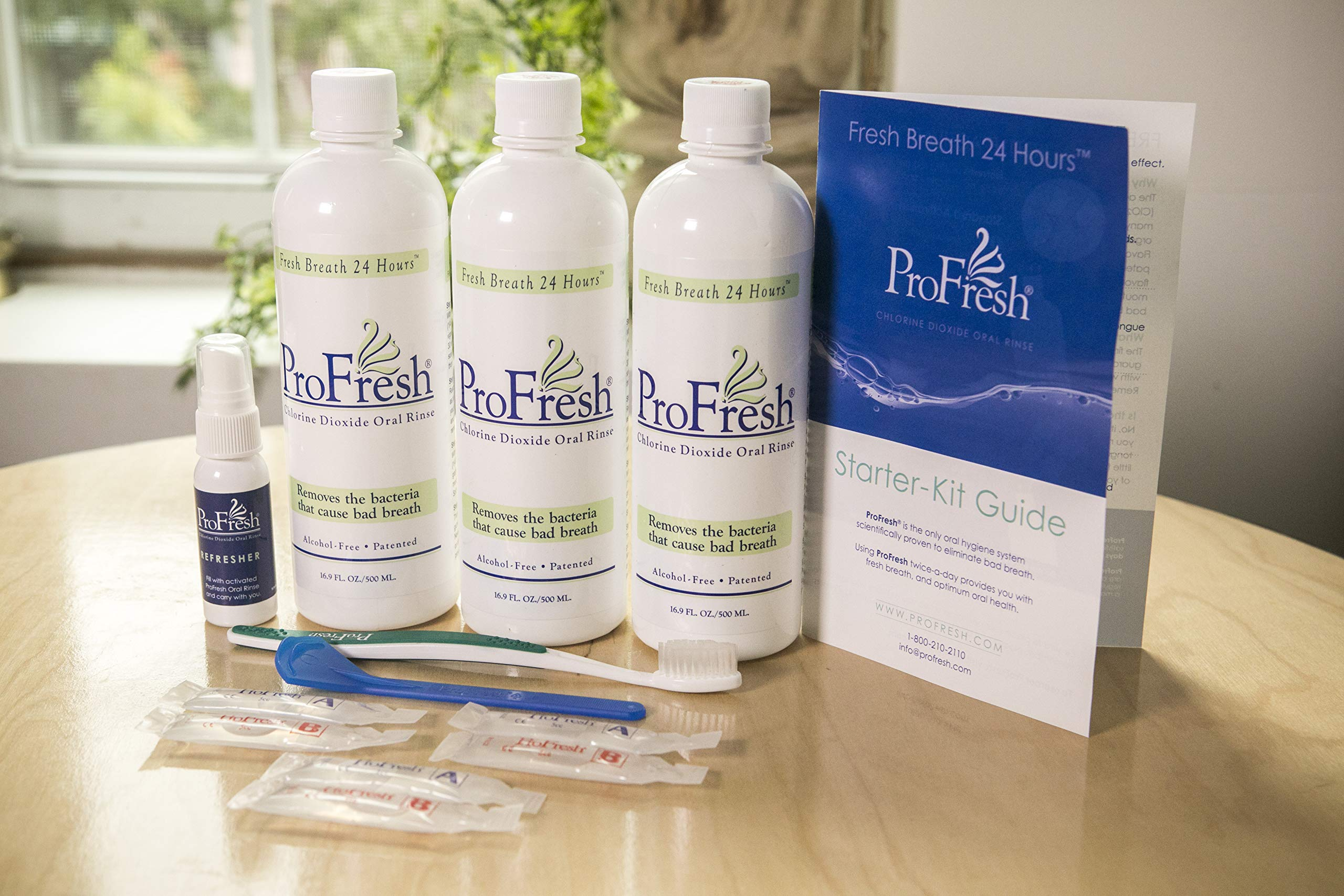 ProFresh BreathCare System Starter Kit, 6-Week Supply, Chlorine Dioxide Mouthwash-Oral Rinse. by ProFresh