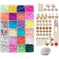 segolike 3200Pcs 6mm Flat Round Disc Spacer Loose Beads for Jewelry Making Bracelets DIY
