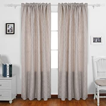 Amazoncom Deconovo Room Darkening Curtains Rod Pocket Insulated