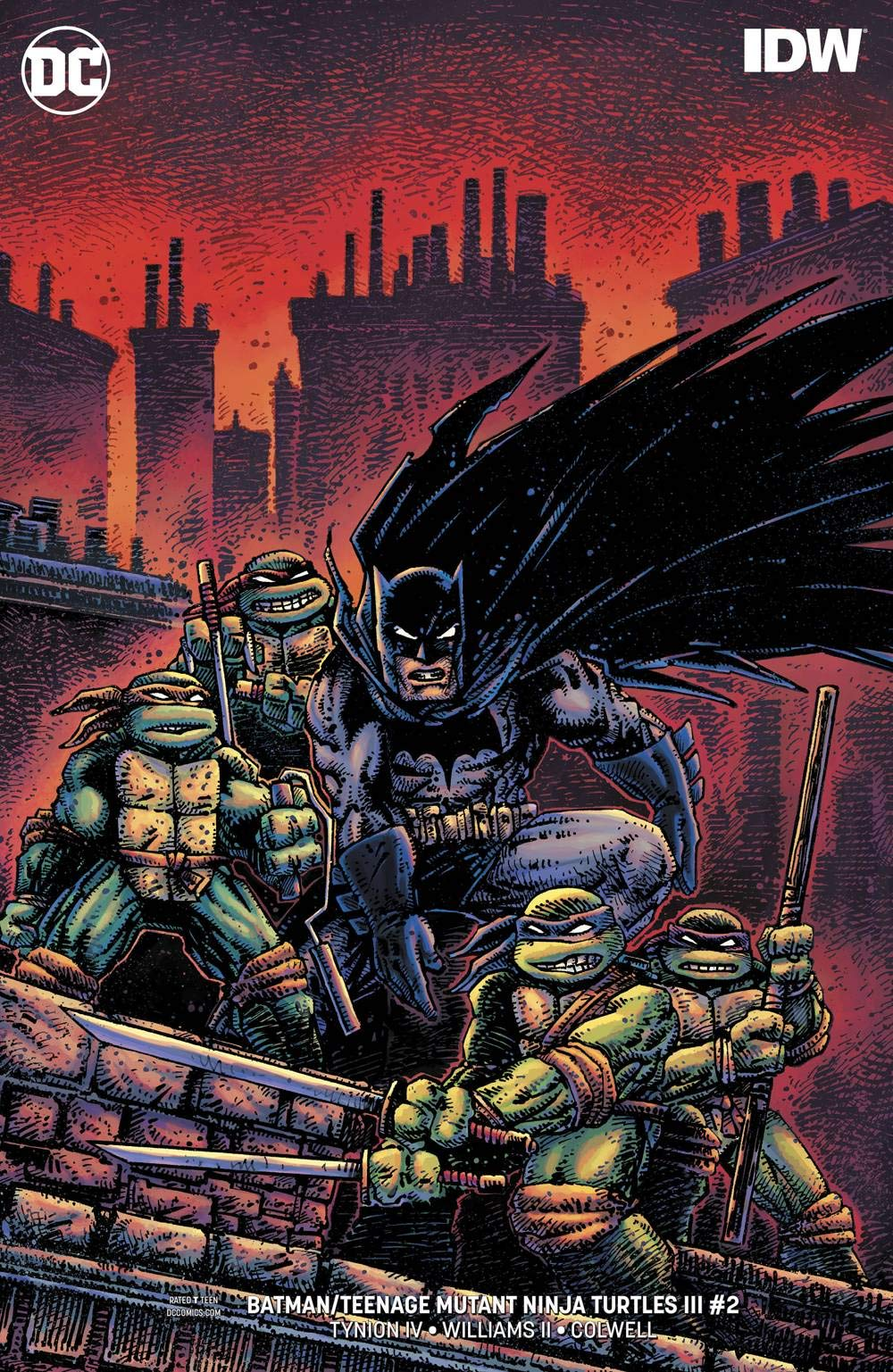 BATMAN TEENAGE MUTANT NINJA TURTLES III #2 (OF 6) VAR ED ...