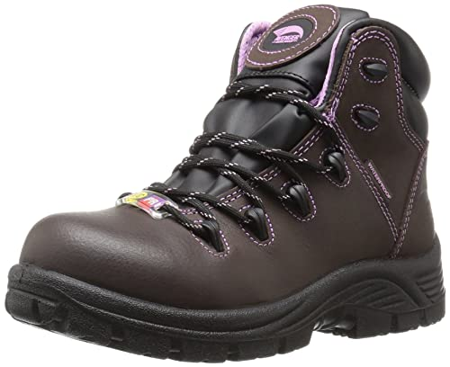 a69ed7a3694 Avenger Women's 7123 Leather Waterproof Puncture Resistant Comp Toe EH SR  Work Boot Industrial and Construction Shoe