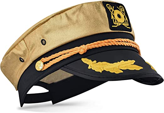 Captain Ford's Loud Yellow Snapback Neon Captain Hat Perfect for Parties