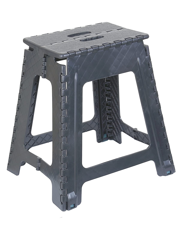 Astounding Superior Performance Folding Step Stool 18 Inch Grey Grey Frankydiablos Diy Chair Ideas Frankydiabloscom
