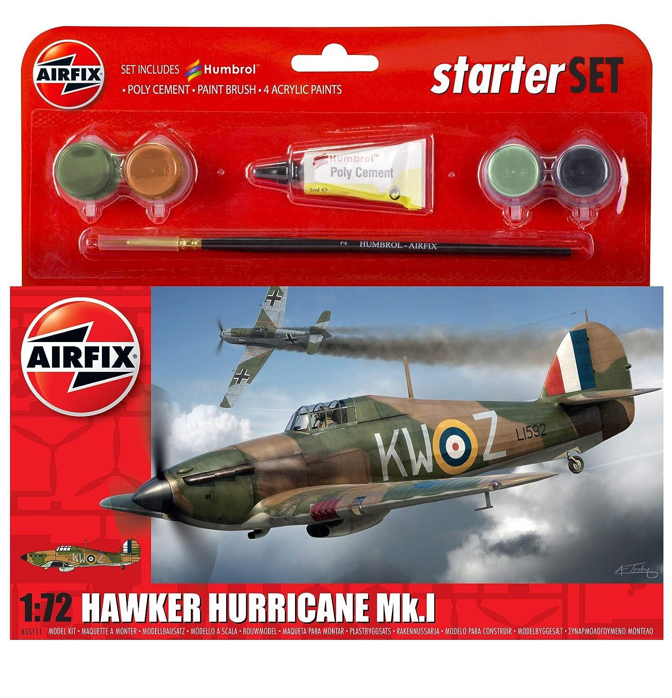 1:72 Scale Airfix Hawker Hurricane Mk.I Starter Gift Set