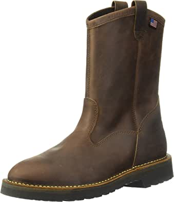 "Danner Men's Bull Run Wellington 11"" Round Toe Steel Toe Work Boot"