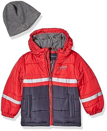 88e639d59 Amazon.com  London Fog Boys  Color Blocked Puffer Jacket Coat with ...