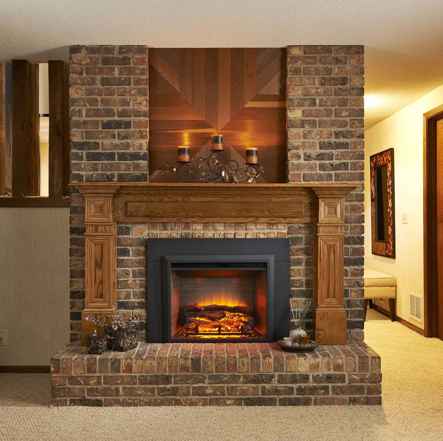 amazon com greatco gallery series insert electric fireplace 36