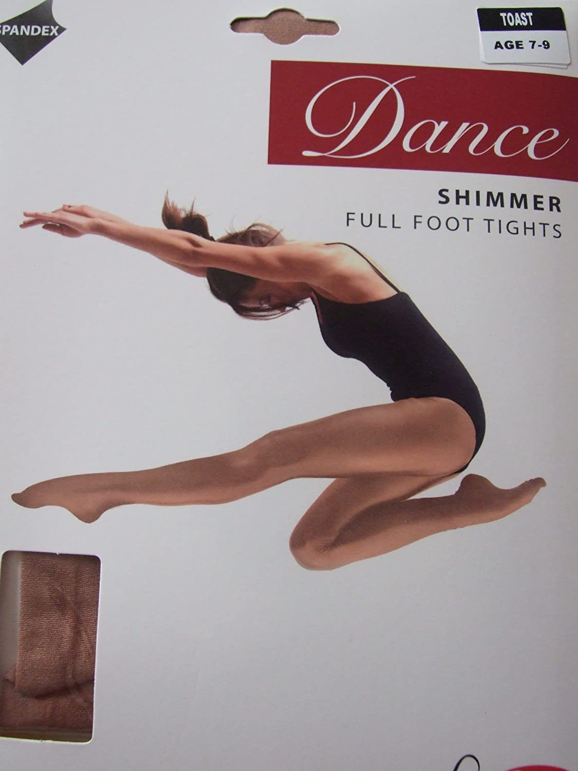 Light Toast 7-9 Years Girls 1 Pair Silky Dance Shimmer Full Foot Tights In 2 Colours