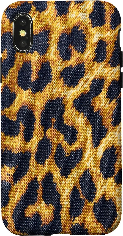 iPhone X/XS Yellow Leopard Skin Print Case