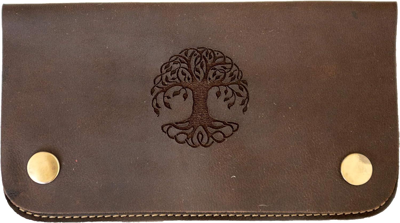 Marron-cr/âne ANDERS Pochette de Tabac Pochette en Cuir v/éritable Sac /à Tabac Sac de Fumage Design Allemand