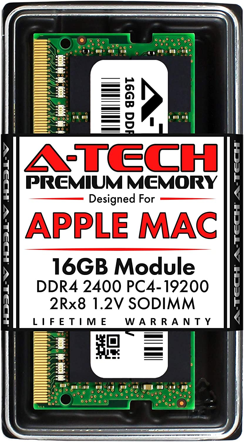 A-Tech 16GB RAM for Apple 2017 iMac 27 inch Retina 5K, 21.5 inch Retina 4K | DDR4 2400MHz PC4-19200 SO-DIMM 260-Pin CL17 1.2V Non-ECC Unbuffered Memory Upgrade Module