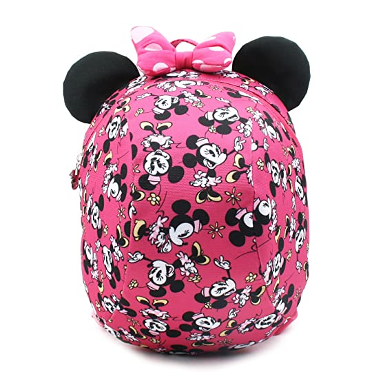 d95ab918f87 Disney Mickey Minnie Mouse Dome Small Backpack with a Removable Strap to  Prevent Children from Going
