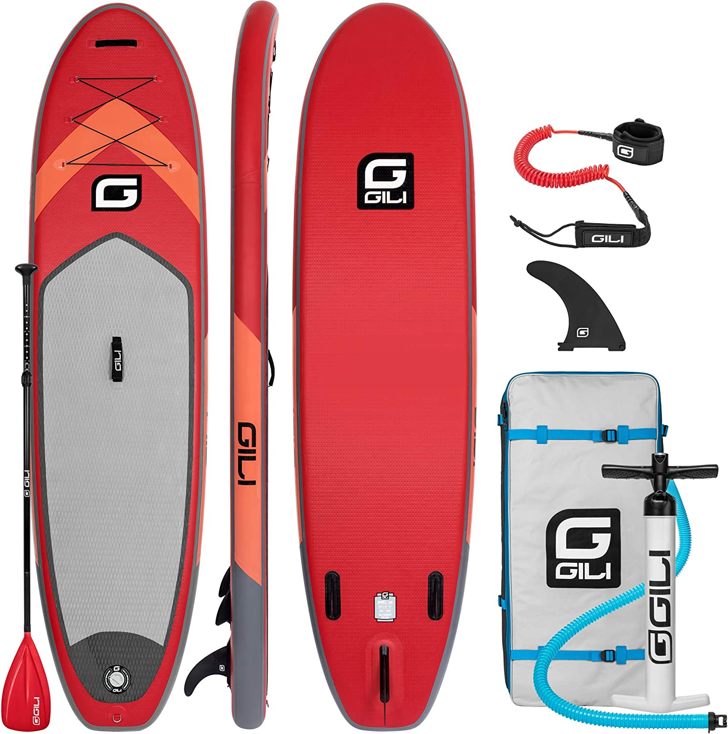 GILI All Around Inflatable Stand Up Paddle Board Package | 106 Long x 31