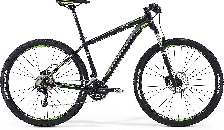 Bicicleta de montaña Merida Big 9 500 negra mate (gris/ verde ...