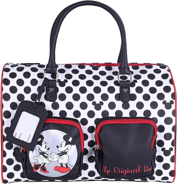 Bolsa de viaje negra de nailon de Mickey Mouse | Bolsos