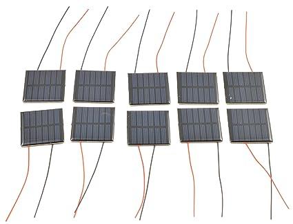 Amazon.com: Pequeño panel solar 3.0 V 70 mA con los cables ...